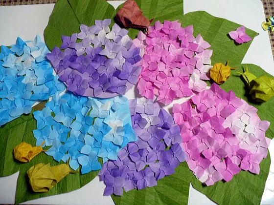 折り 折り紙 折り紙 紫陽花 : divulgando.net