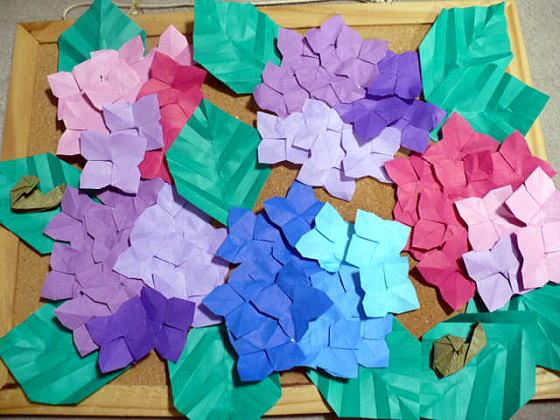 バラ 折り紙:折り紙 あじさい 折り方-divulgando.net