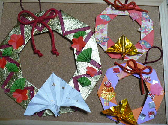 すべての折り紙 クリスマス折り紙飾り作り方 : ... 折り紙で飾るお正月飾り | iemo