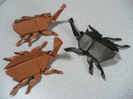 ハート 折り紙 カブトムシ 折り紙 折り方 : divulgando.net