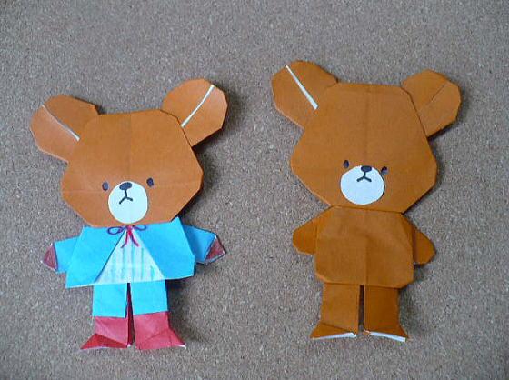 折り紙の キャラクターの折り紙の作り方 : divulgando.net