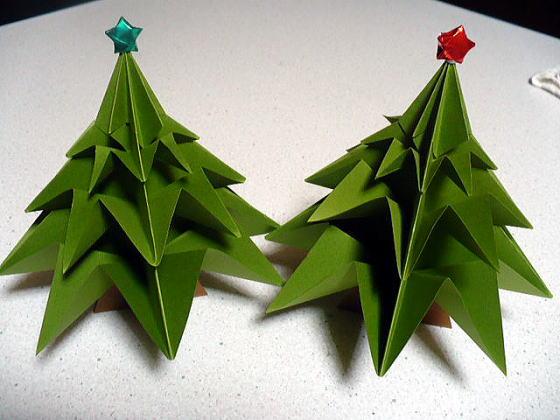 ハート 折り紙 折り紙ツリー立体 : divulgando.net