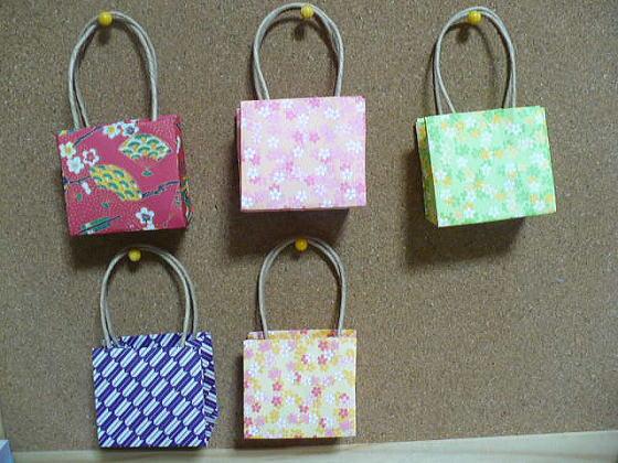 すべての折り紙 折り紙 お見舞い : かわいいバッグ:おりがみや ...