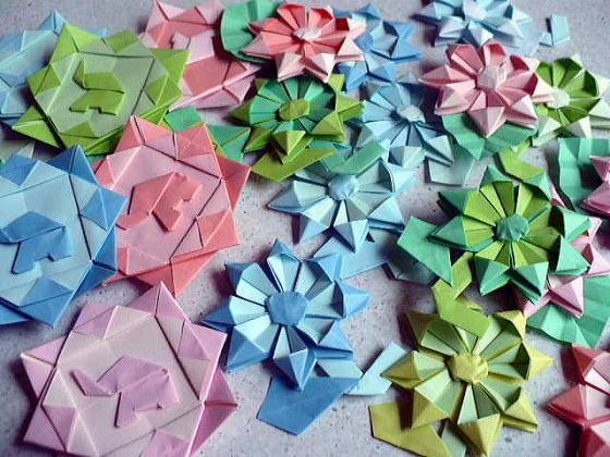 すべての折り紙 折り紙 葉っぱ 折り方 : ワッペン:おりがみやさん:So ...
