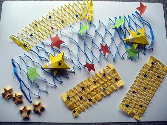 すべての折り紙 折り紙 飾り 折り方 : 七夕かざり:おりがみやさん ...