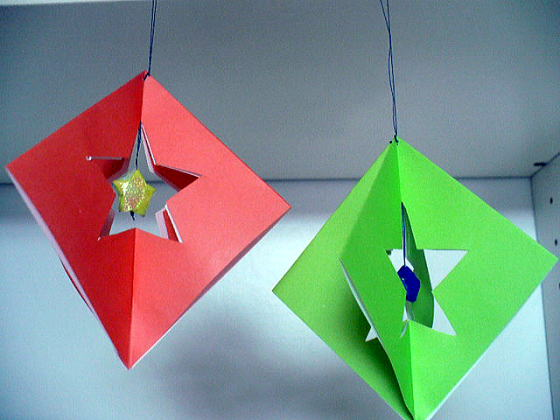 クリスマス 折り紙 折り紙 七夕飾り : hagifood.com