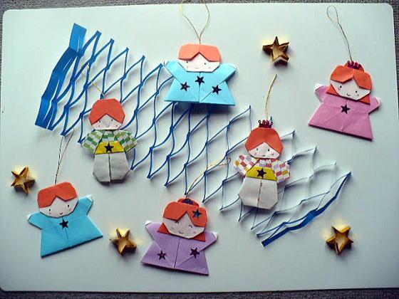七夕かざり:おりがみやさん ... : 折り紙 雛飾り : 折り紙