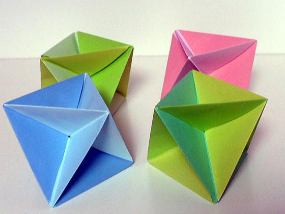 クリスマス 折り紙 : 多面体 折り紙 : divulgando.net