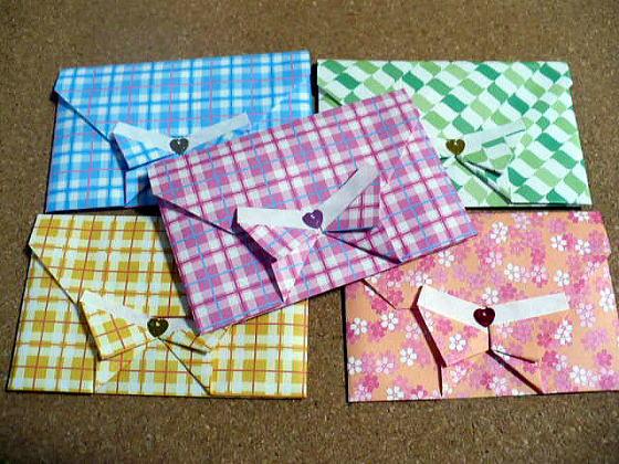 すべての折り紙 折り紙 封筒 作り方 : 蝶々の封筒:おりがみやさん ...