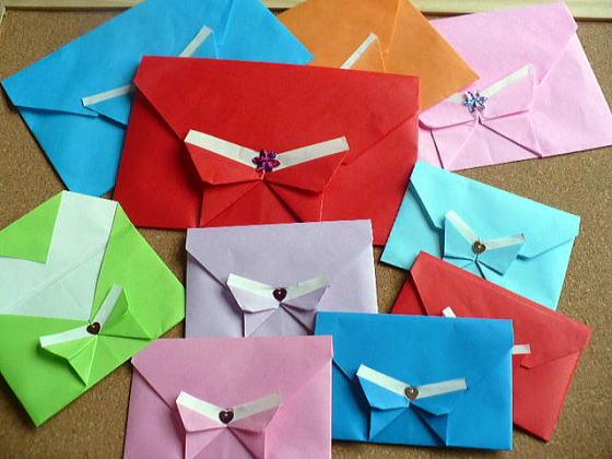 ハート 折り紙 かわいい手紙折り方リボン : divulgando.net