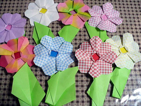 すべての折り紙 折り紙 簡単 花束 : チューリップともうひとつは何 ...