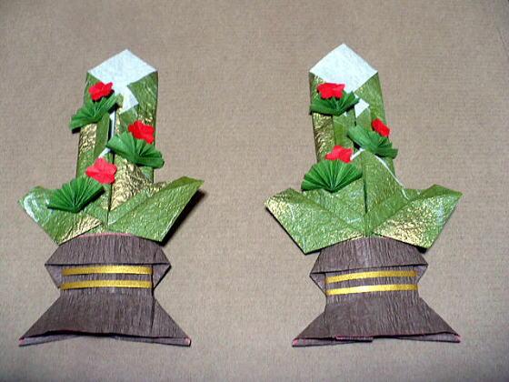 すべての折り紙 お正月 折り紙 折り方 : お正月らしくハンドメイド ...