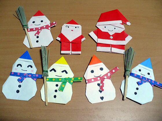 すべての講義 おりがみくらぶ クリスマス : スノーマンとサンタさん [季節 ...